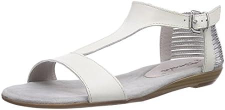 Tamaris  28105, Sandales pour femme - Multicolore - Mehrfarbig (White/Silver 191), 35 EU