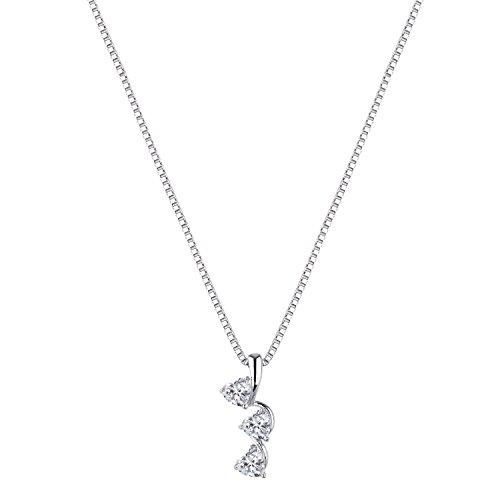 [ジュエリーキャッスル] Jewelry Castle ネックレス ハートブリリアント 1カラット スリーストーン ネックレス