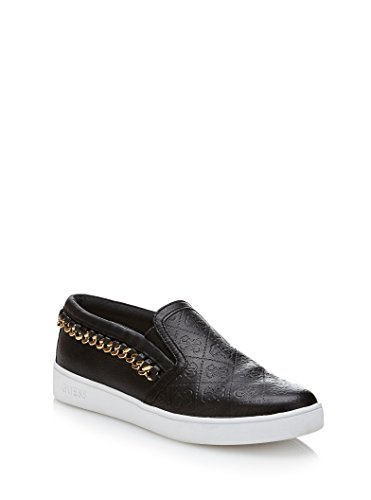 Scarpe Donna Espadrillas Mocassino Guess Mod. GLORIENNE SLIP ON FL3GNNFAL12 Col. Nero (37).