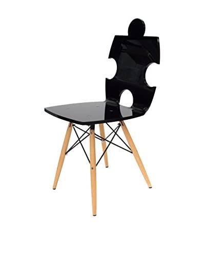 ACRILA Puzzle Chair, Black