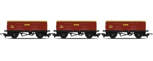 Hornby R6367 00 Gauge Coal train: 3 x EWS Open wagons Railroad Rolling Stock