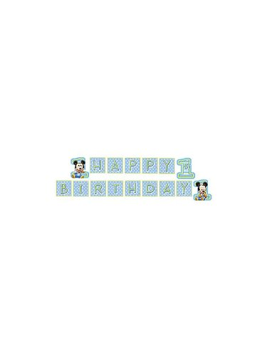 Mickeys 1St Birthday Jointed Banner 8Ft front-531188