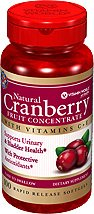 Vitamin World Natural Cranberry Fruit Concentrate 4200 Mg, 100 Softgels