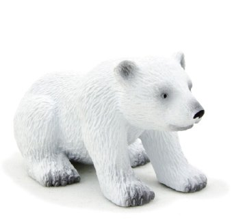 Mojo Fun 387021 Polar Bear Cub Sitting - Realistic International Wildlife Toy Replica