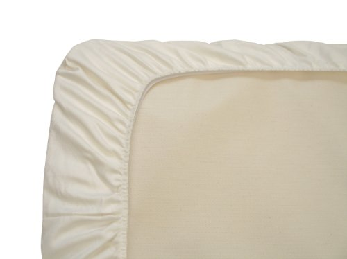 Naturepedic Organic Cotton Portable Crib Fitted Sheet, Ivory - 1