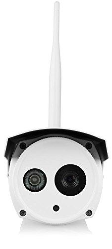 Foscam FI9803P Telecamera, HD 1.0 MP, H.264, 720p, 70°, Esterno, Wireless, Visore Notturna, Rilevatore Movimenti, Alerte Mail/FTP, Compatibile iPhone e Android