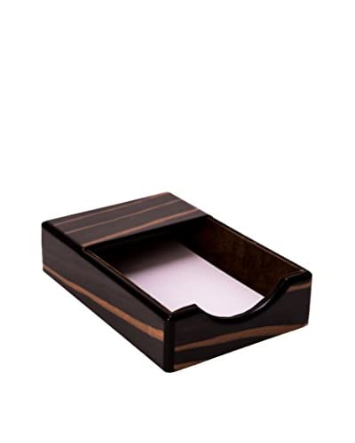 Bey-Berk Wood Memo Pad, Ebony/Black
