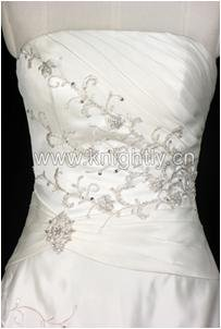 Knightly Wedding Dress Gown - Beaded Embroidery & Pleat Bridal Gown