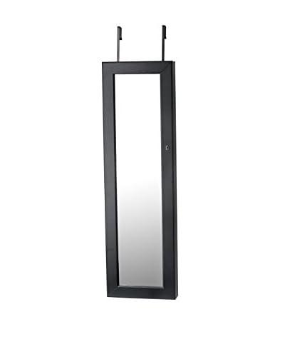 InnerSpace Over-The-Door/Wall-Hang Deluxe Jewelry Armoire, Black