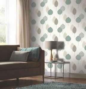 Arthouse Dante Motif Wallpaper - Teal by New A-Brend