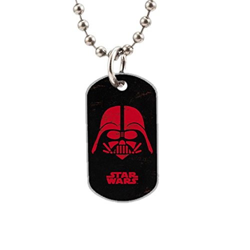 Darth Vader Face Custom Dog Tag with Neck Chain Aluminum Oval Dog Tag Necklace Design (Darth Vaders Face)