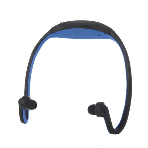 Docooler Sport Mp3 Wma Music Player Tf/ Micro Sd Card Slot Wireless Headset Headphone Earphone (Blue)