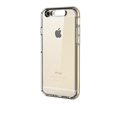 Realway Rock Tpu Incoming Call Led Blink Transparent Back Case Cover For Iphone 6 4.7 (Gold)