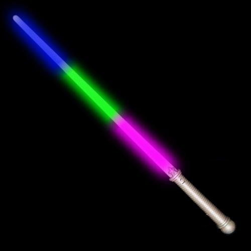 Rainbow LED Lightsaber Glowing Toy Tri-Color Costume Light Saber