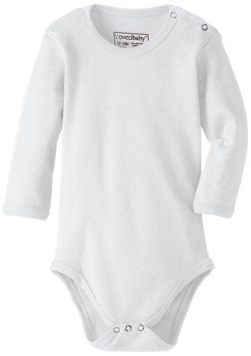 L'Ovedbaby Unisex-Baby Newborn Organic Long-Sleeve Bodysuit, White, 18/24 Months front-859071