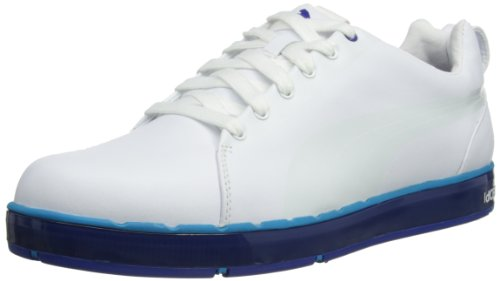Puma Mens HC Lux LE Golf Shoes 186093-03 White/Vivid Blue/Surf 9 UK, 43 EU