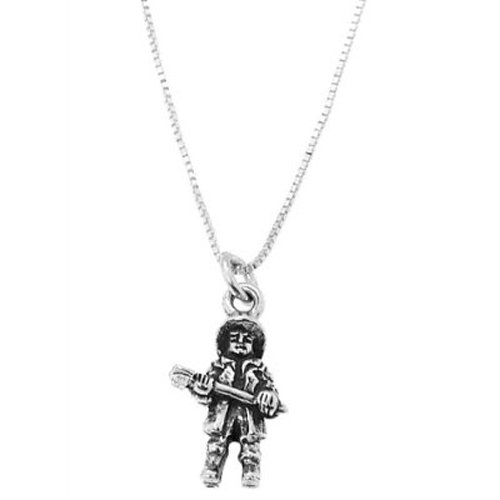 Firefighter Necklace on Dimensional Firefighter Holding Axe Necklace  Jewelry  Amazon Com
