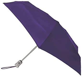 Totes Ladies Signature Micro Auto Open Auto Close Compact Umbrella, Purple, One Size