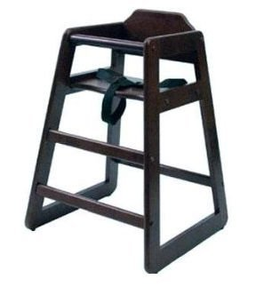 Lipper 516E Wooden High Chair - Espresso