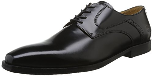 Melvin & Hamilton - Austin 2, Stringate uomo, color Nero (Brush Black/Rs), talla 42