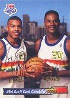 Bryant Stith Denver Nuggets 1992 Upper Deck Draft Card Checklist Autographed Hand...