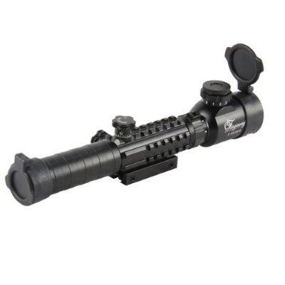 3-9×28 Alluminum Tri Weaver Rail 3 Lever R/G/B Illuminated Rifle Scope