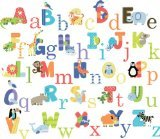 CherryCreek Decals CherryCreek Decals Animal Alphabet Nursery Peel & Stick Wall Art Sticker Decals for Boys and Girls