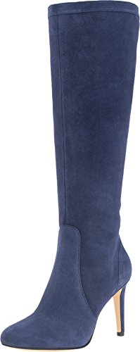 Nine West Women's Holdtight Suede Winter Boot, Navy, 9.5 M US