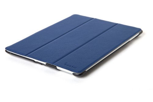 Poetic HardBack Protective Case for The NEW iPad (3rd gen) / iPad 3 / iPad 2 with Built-in Folding Cover Blue - Support Auto Wake/Sleep Function (3 Year Manufacturer Warranty From Poetic)