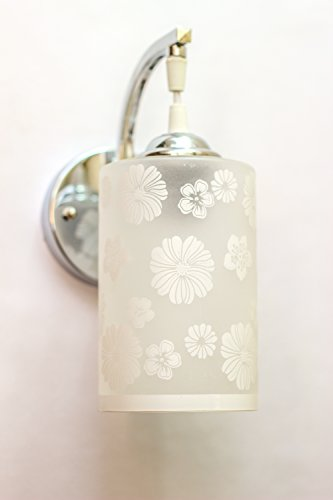 Kiran Glass Wall Light WHITE FLOWER