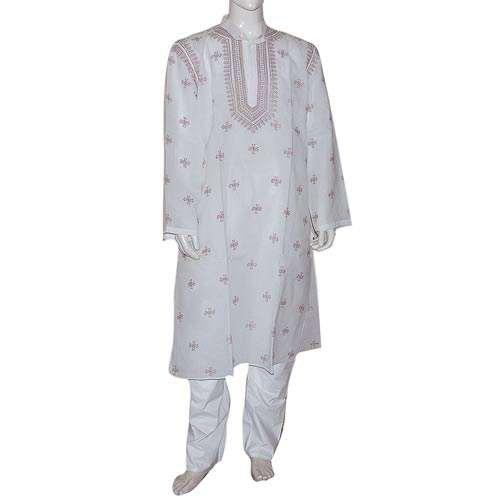 Dad Gift - White Cotton Clothing For Summer Kurta Pajama Size L