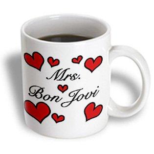 3Drose Mug_163786_2 Mrs. Bon Jovi Rock And Roll Ceramic Mug, 15-Ounce