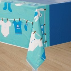 Cute as a Button Boy Baby Shower Table Cover-1 piece