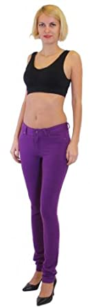 Dinamit Jeans Skinny Fit French Terry Brazilian Pants Purple S