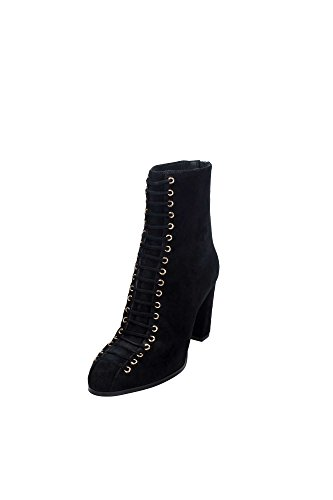 What For 361 Stivaletto Donna Camoscio Nero Nero 38