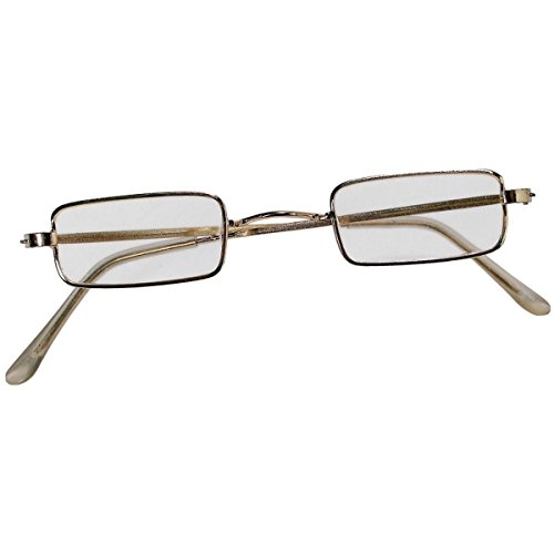 [GSG Rectangular Wire Rim Costume Glasses Santa Claus Ben Franklin Old Lady Man] (Ben Franklin Adult Mens Costumes)