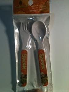 "Dreamworks Shrek 2 Spoon & Fork Set Flatware size approx 5.5""L"