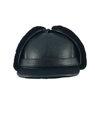 zavelio-womens-shearling-sheepskin-elmer-fudd-visor-hat-small-solid-black