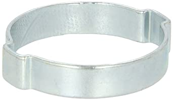 Oetiker 101 Series Zinc-Plated Steel Hose Clamp, Double Ear