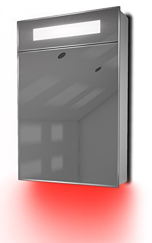 Ambient Bathroom Mirror Cabinet With Sensor & Internal Shaver Socket K84R