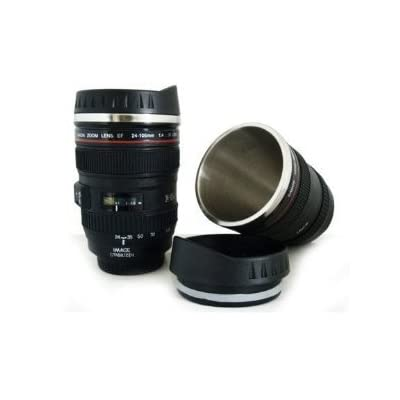 Canon 24 105mm Lens Travel Stainless Coffee Mug Cup