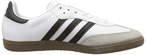 Adidas Originals Men's Samba Soccer-Inspired Sneaker,White/Black/Gum,9.5 M US