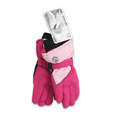 LADIES WATERPROOF SKI GLOVES - PINK