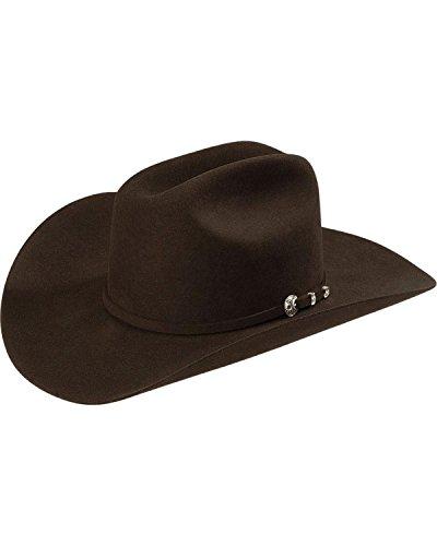 474409da9bca9 Stetson Men s 4X Corral Buffalo Felt Cowboy Hat Chocolate 7 3 8 ...