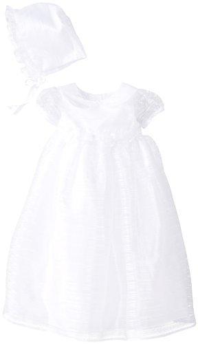 Picture Perfect Baby, per neonati, con colletto alla Peter Pan Organza Abito per il battesimo, colore: bianco, 3 mesi, colore: bianco, 3 mesi