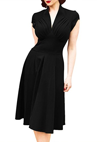 Apparelover Womens Cocktail Dress Black