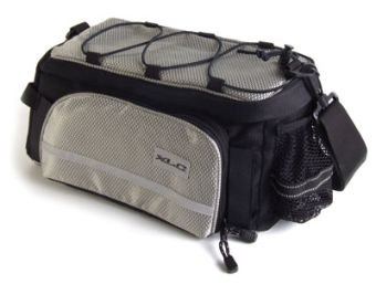 XLC Rear Rack Top Trunk Bag Black/Silver Large.