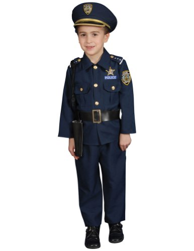 Kids-Costume Police Child Halloween Costume - 3T-4T