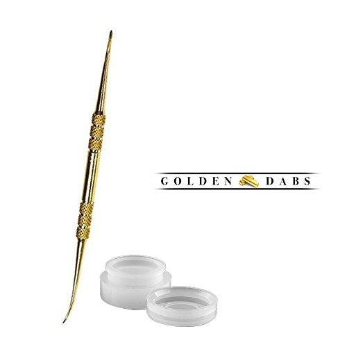 StayGolden Dab Scrape Stainless Steel Tip 4.75inch Dabbing Wax Carving Tool With Non-Stick Food Grade Silicone Dab/Wax/Oil Containers Non Stick Multi Use Storage Jar (Wax Rig Nail compare prices)