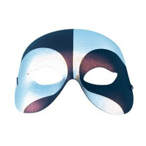 Eyemask Eye Mask Voodoo Black Silver for Fancy Dress Masquerade Accessory by UKPS